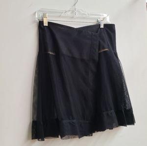 BCBG Runway Pleated Sheer Skirt